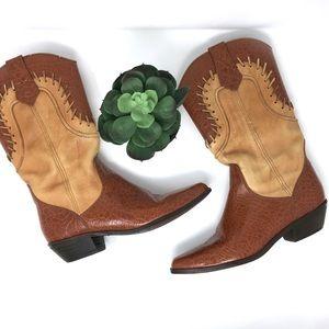 Vintage Dingo  leather cowboy western boots